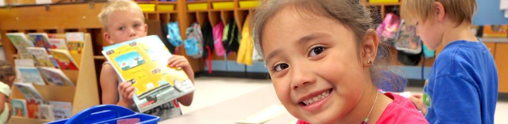 Kindergarten - female student in classroom